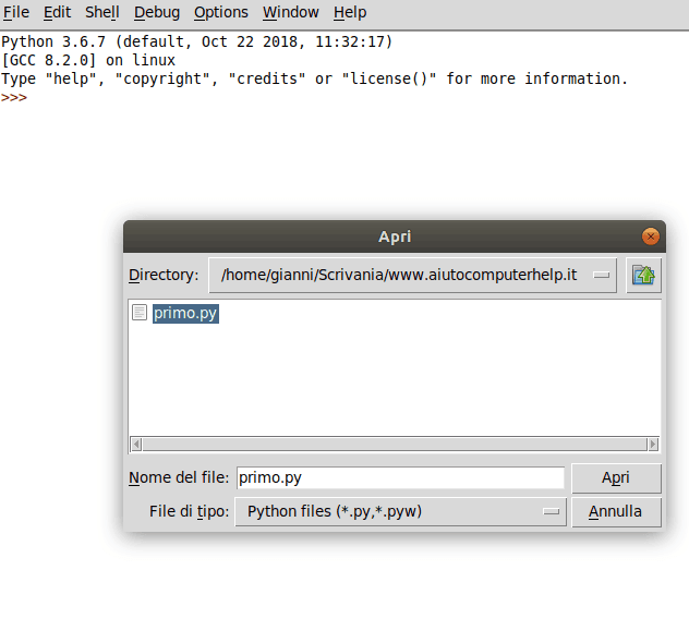 03 - Python programma esempio