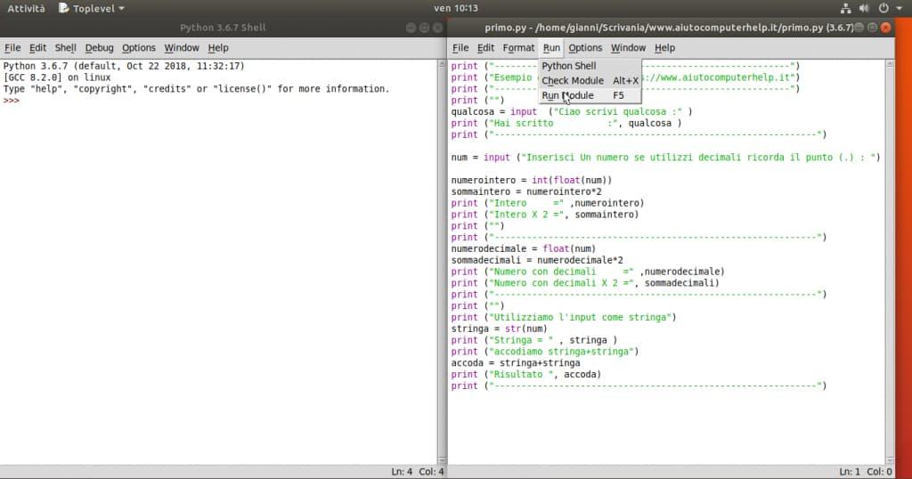 04 - Python programma esempio