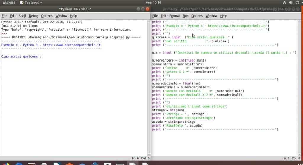 05 - Python programma esempio