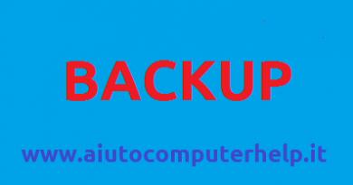 Come fare un backup