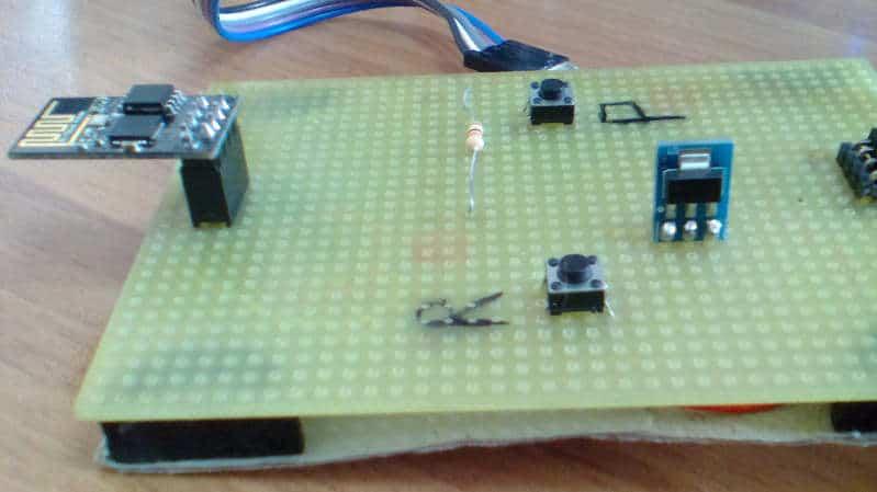 esp8266-01 la mia board per programmazione autocostruita