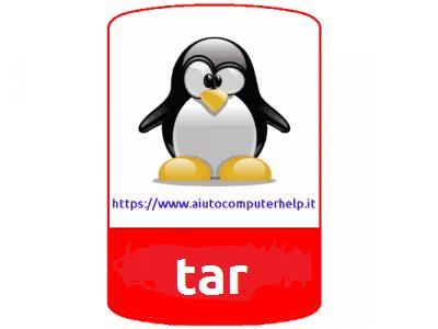 linux - come utilizzare tar