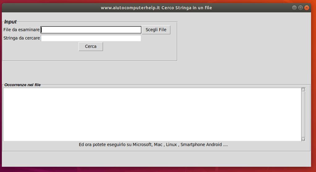 Python - cerchiamo una stringa in un file sequenziale