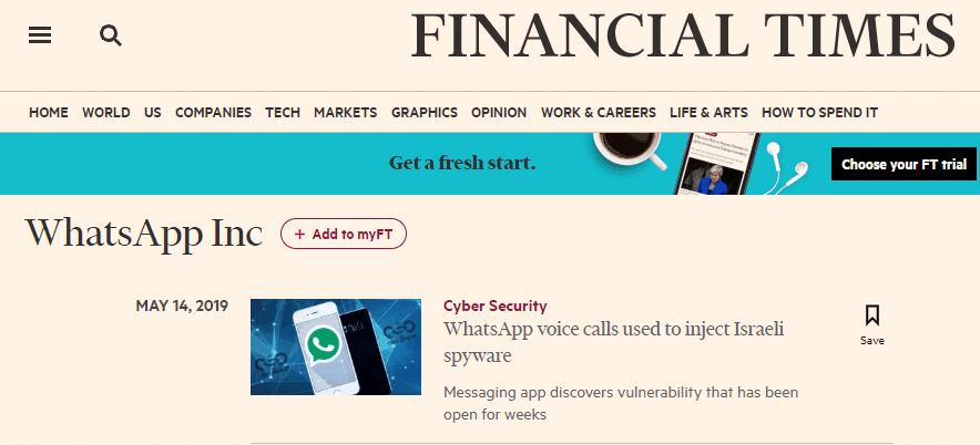 Una telefonata con WhatsApp per bucare il telefono