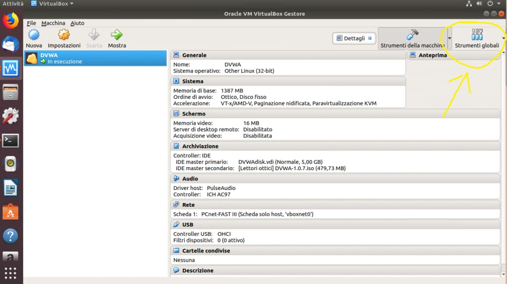 DVWA e VirtualBox