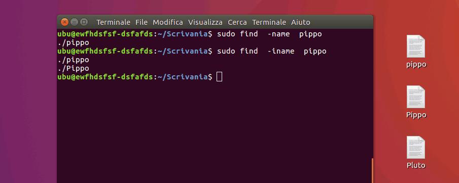 cercare un file in linux