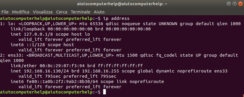 comando ip address