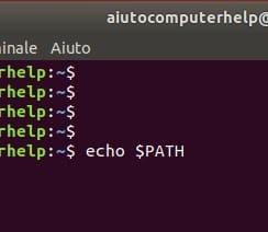 variabili path linux