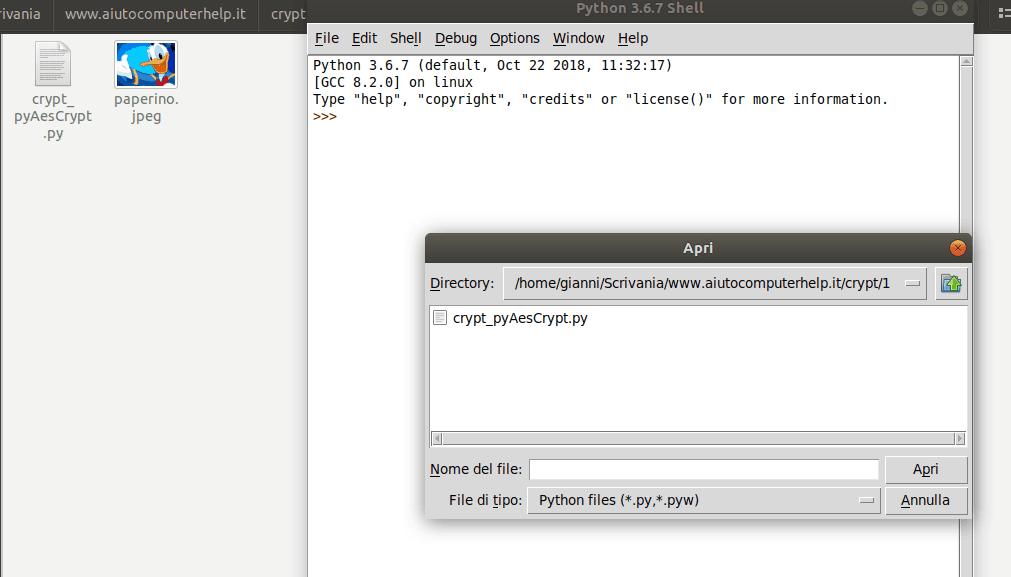 01 - Criptiamo un file in python pyAesCrypt