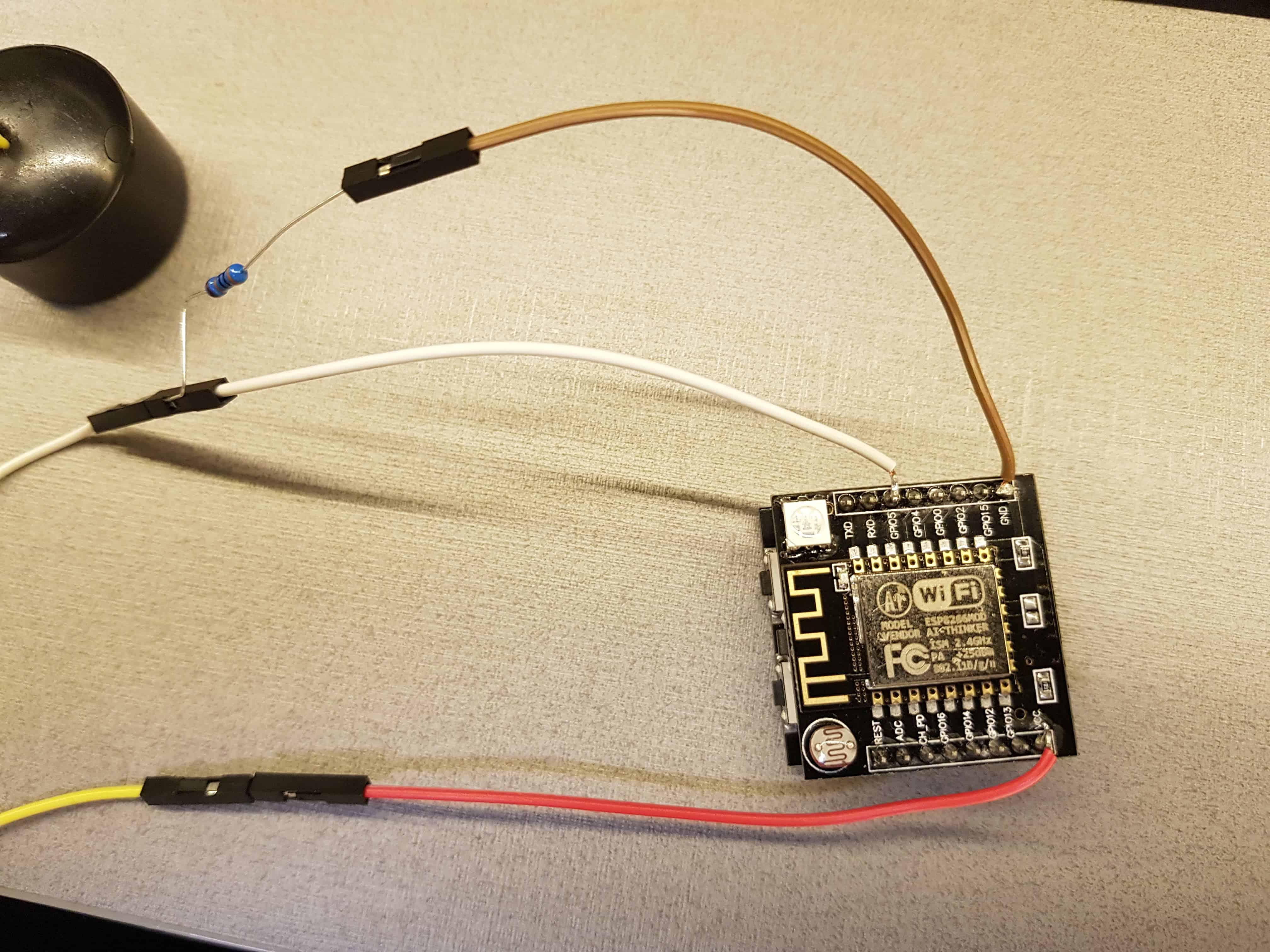 1) Esp8266 - Settare le credenziali del Wi-Fi con la luce